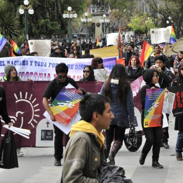LGBT march during the International Day Against Homophobia in La Paz, Bolivia, in 2013. © AIZAR RALDES/AFP via Getty Images