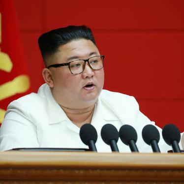 North Korean leader Kim Jong Un speaks during a plenary meeting of the Workers' Party in Pyongyang, North Korea, August 19, 2020.