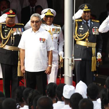 Sri Lankan President Gotabaya Rajapaksa at the independence day celebrations in Colombo, February 4, 2020.