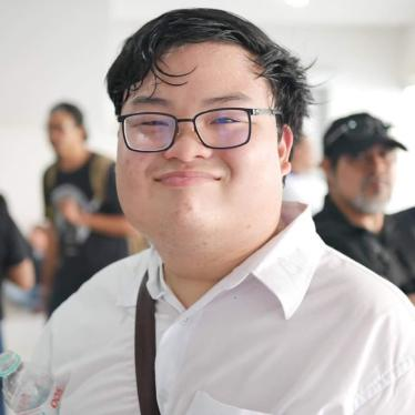 Thai student activist Parit Chiwarak was arrested on August 14, 2020, and charged with sedition for his role in a peaceful pro-democracy protest.