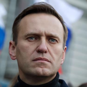 Russian opposition activist Alexei Navalny takes part in a march in memory of opposition leader Boris Nemtsov in Moscow, Russia, February 29, 2020.