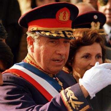 General Augusto Pinochet, who from 1973 to 1990 led a military government in Chile responsible for extensive human rights abuses, in 1975.