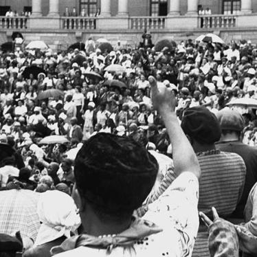 Women march on the Union Buildings protesting apartheid in Pretoria, South Africa, August 9, 1956.