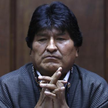 Former President of Bolivia Evo Morales attends a press conference at the journalists' club in Mexico City, Nov. 27, 2019.