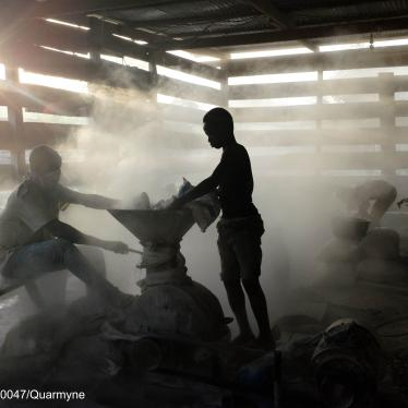 Child labor in an informal gold mine in Ghana