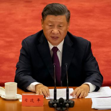 Chinese President Xi Jinping speaks during an event to honor some of those involved in China's fight against Covid-19 at the Great Hall of the People in Beijing, September 8, 2020.