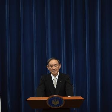 Japan's new Prime Minister Yoshihide Suga speaks during a press conference at the prime minister's official residence Wednesday, Sept. 16, 2020 in Tokyo, Japan.