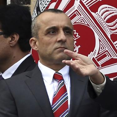 Afghan Vice President Amrullah Saleh at an inauguration ceremony in Kabul, Afghanistan, March 9, 2020.