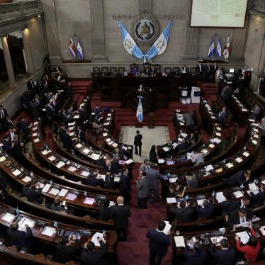 Lawmakers vote in Congress, in Guatemala City, Guatemala, on September 11, 2017.