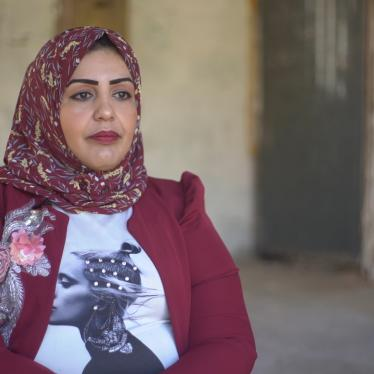Doaa Qashlan speaks to Human Rights Watch during an interview in Gaza, November 18, 2020.