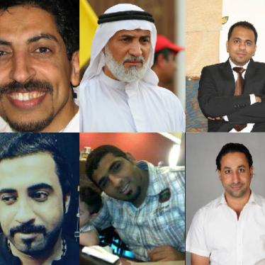 Bahraini political opposition leaders, activists, bloggers, and human rights defenders imprisoned for their roles in the 2011 pro-democracy protests.