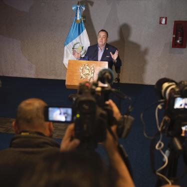 uatemala's President Alejandro Giammattei gives a press conference at the National Theatre, the day before his inauguration in Guatemala City, Jan. 13, 2020.