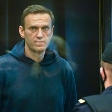Russian opposition leader Alexei Navalny is pictured in the Moscow City Court in Moscow, Russia, February 2, 2021.