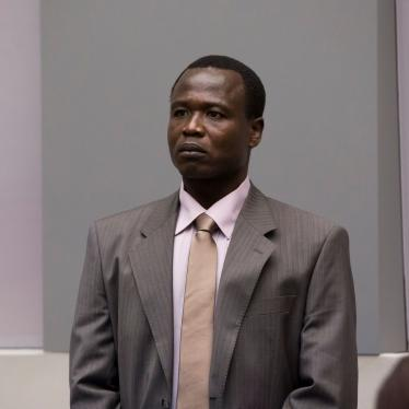 Dominic Ongwen at his confirmation of charges hearing in ICC courtroom I on 21 January 2016 © ICC-CPI.