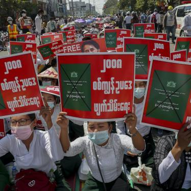 Anti-coup protesters stage a sit-in demonstration, Mandalay, Myanmar, February 24, 2021.