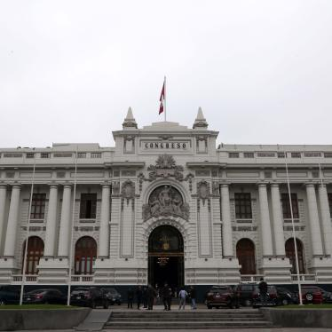 A view of the Congress building in Lima, Peru, September 17, 2018.