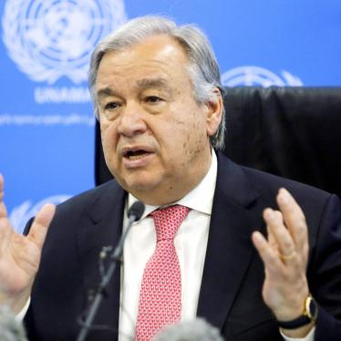 UN Secretary-General Antonio Guterres attends a press conference in Kabul, Afghanistan on June 14, 2017.