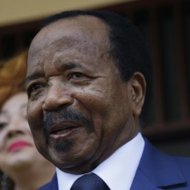 A picture showing Cameroon President Paul Biya who recently gave directives to improve oversight and investigate misappropriation of Covid-19 funding.
