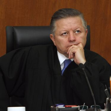 Justice Arturo Zaldívar attends a Supreme Court hearing in Mexico City on March 21, 2012.