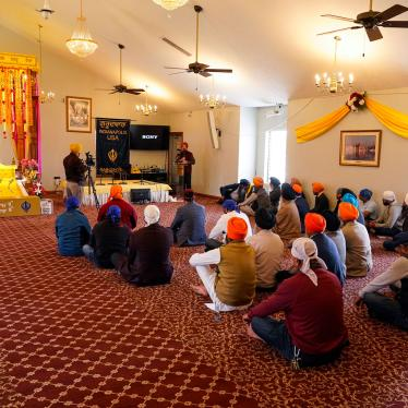 Members of the Sikh Coalition gather at the Sikh Satsang of Indianapolis