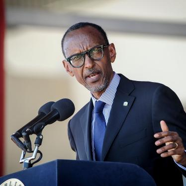 Rwanda's President Paul Kagame speaks during the state funeral of Kenya's former president, Daniel arap Moi, at Nyayo Stadium in Nairobi, Kenya, February 11, 2020.