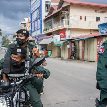 Military Police patrol in a Red Zone to ensure people abide by the lockdown measures. Phnom Penh remains in lockdown as Cambodia takes drastic measures to reduce the spread of its worst COVID-19 outbreak to date.