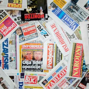 Western Balkans: Unchecked Attacks on Media