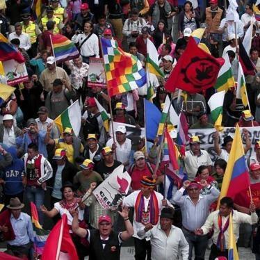 Ecuador: Represión contra manifestantes