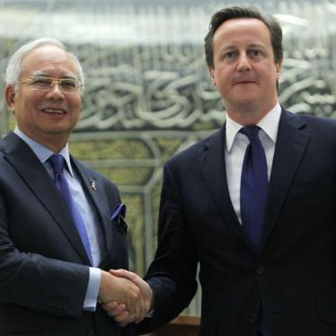 Dispatches: Cameron Should Call Out Malaysia's Abuses