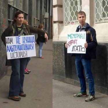 Dispatches: Russia's Growing Intolerance for Dissent