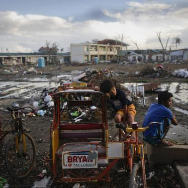 Dispatches: Filipino Children Promised Better Disaster Relief