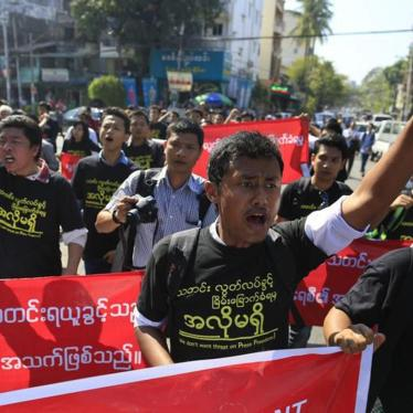 Burma: Repeal Section 66(d) of the 2013 Telecommunications Law
