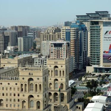 Formula One: Red Flag on Rights in Azerbaijan