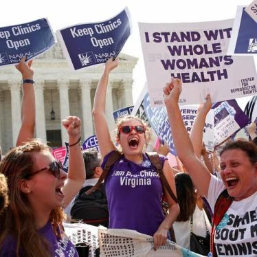 Dispatches: US Supreme Court Strikes Down Abortion Restrictions