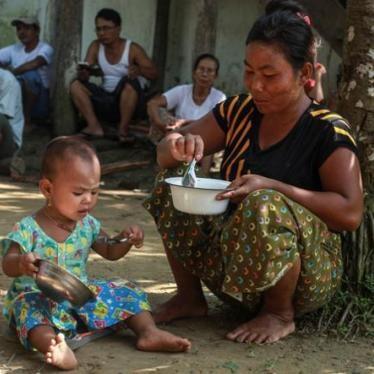 ビルマ:ラカイン州への援助に妨害