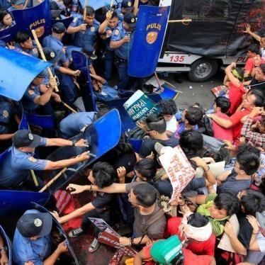 Philippine Police Probe Violent Protest Dispersal