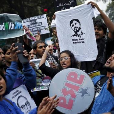 India: Outspoken Activists Charged with Sedition