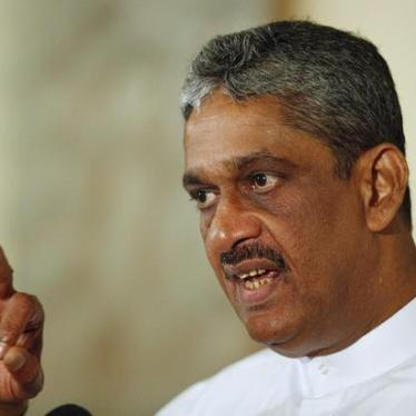 Sri Lanka: Investigate, Not Promote, Ex-Army Chief
