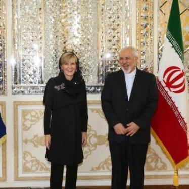 Dispatches: Rights Key as Australia Embraces Iran