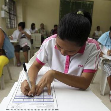 Philippines: Candidates to Reflect on Rights