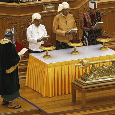Burma: Rights Priorities for New Government