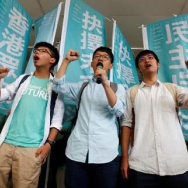 香港:学生抗争领袖被判刑