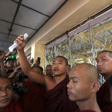 Burma: Drop Charges Against Former Activist Monk