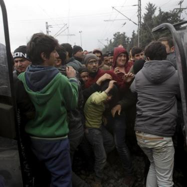 EU/Balkans/Greece: Border Curbs Threaten Rights