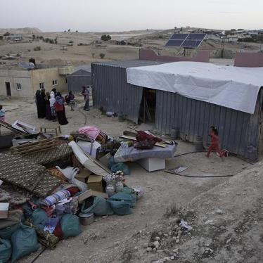 Israel/Palestine: Bedouins Face Imminent Displacement