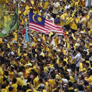 Malaysia: Drop Charges for 'Street Protests'