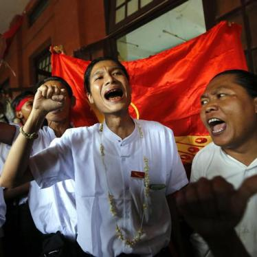 Burma: Major Step to End Decades-Long Cycle of Political Arrests