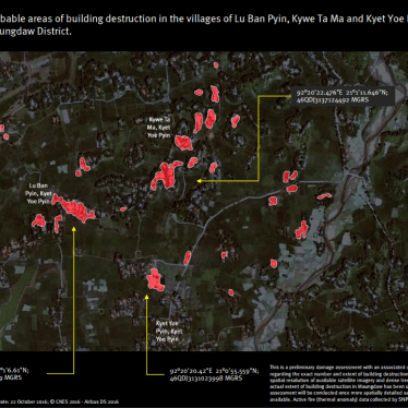 Burma: Satellite Images Show Fire-Damaged Villages