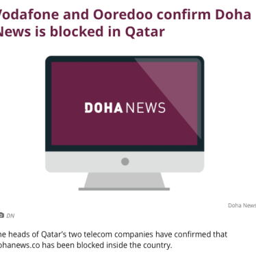 Qatar: Independent News Website Blocked