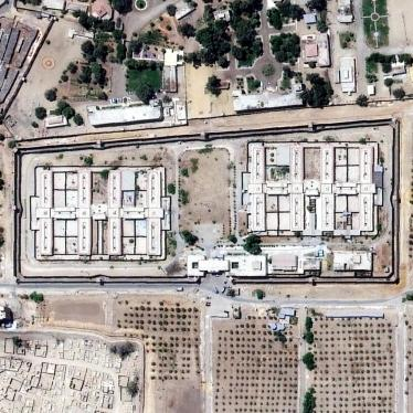 A satellite photograph of Scorpion Prison taken in September 2016. Inmates suffer abuses in secret and are denied most access to the outside world. Satellite imagery